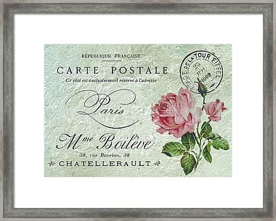 Petit Rose Confection Framed Print by Sarah Vernon
