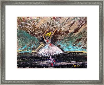 Framed Print featuring the painting Petite Ballerina by Mary Carol Williams