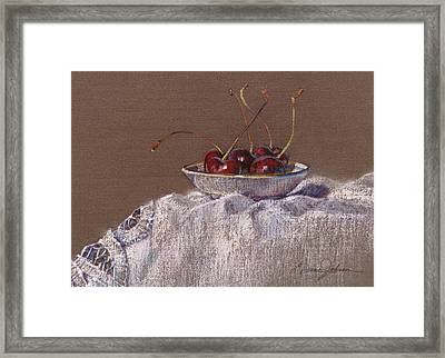 Petite Bowl Iv Framed Print by L Diane Johnson