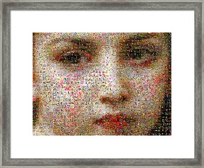 Petite Fille Au Bouquet Detail Framed Print by Gilberto Viciedo