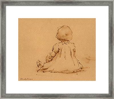 Petite Fille Framed Print by Thor Wickstrom