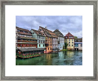 Petite-france, Strasbourg Framed Print by Richard Fairless