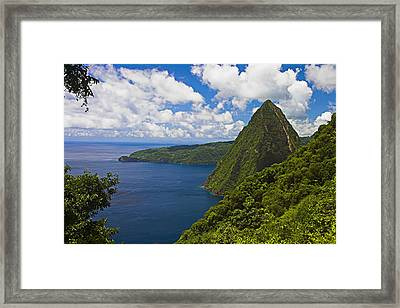 Petite Piton From Gros Piton-st Lucia Framed Print