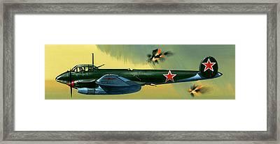 Petlyakov Pe2 Russian Bomber Framed Print