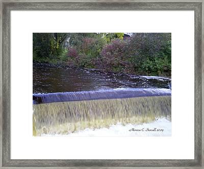 Petoskey Mi Mineral Park Waterfall  Framed Print