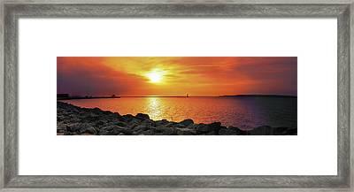 Petoskey Sunset Framed Print