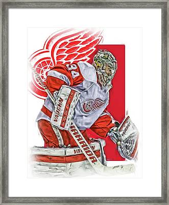 Petr Mrazek Detroit Red Wings Oil Art Framed Print