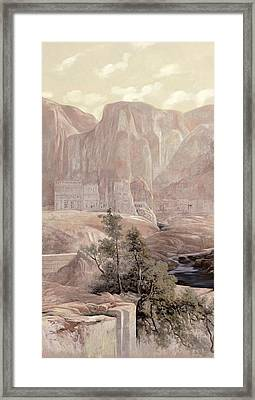 Petra Framed Print by Guido Borelli
