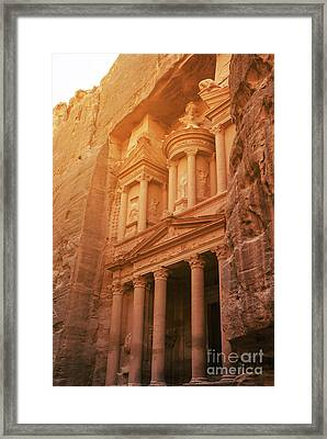 Petra Treasury, Jordan Framed Print by Jelena Jovanovic