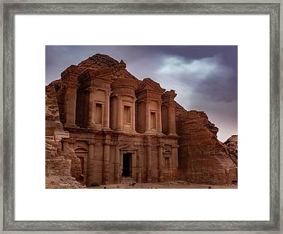 Petra's Monastery Framed Print