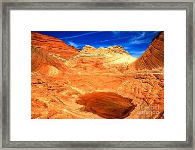 Petrified Sand Dune Pool Framed Print by Adam Jewell