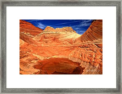 Petrified Sand Dune Reflections Framed Print by Adam Jewell