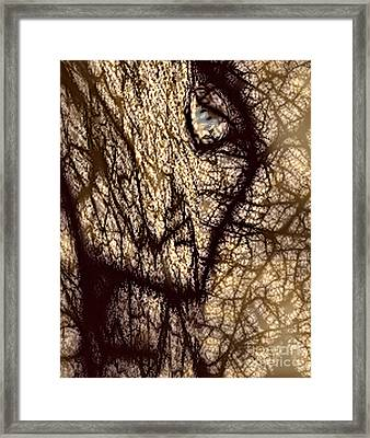 Petrified Super Ego Framed Print by Rebecca Phillips