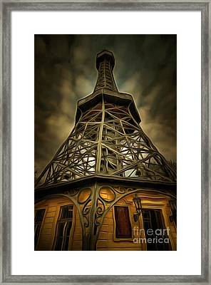 Petrin Lookout Tower - Mixed Media Framed Print