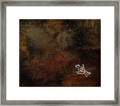 Petroglyph 5 Framed Print