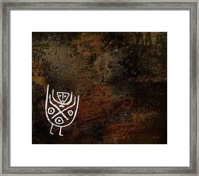 Petroglyph 7 Framed Print
