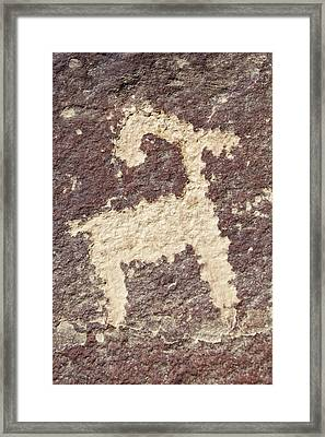 Petroglyph - Fremont Indian Framed Print