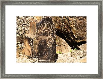Petroglyph Horse Thief Butte   Framed Print