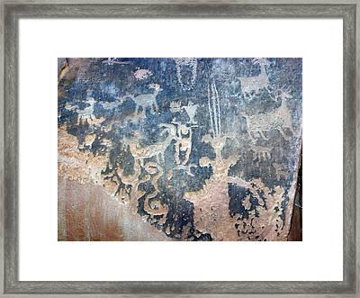 Petroglyph Framed Print by Pamela Walrath
