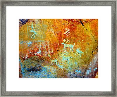 Petroglyph Panel Work 12 Framed Print