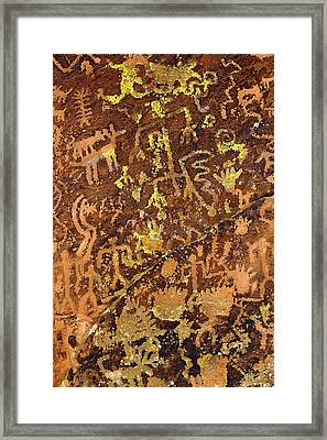 Petroglyph Records Framed Print