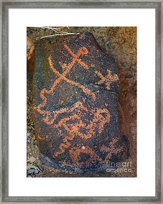 Petroglyph Tucson Arizona Framed Print by Donna Greene