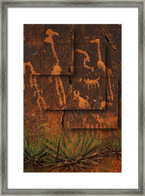 Petroglyphs Agave Framed Print