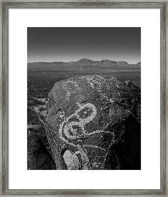 Petroglyphs IIi Framed Print by Joseph Smith