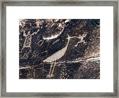 Framed Print featuring the photograph Petroglyphs In Petrified Forest by Jeanette Oberholtzer