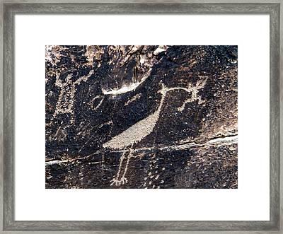 Petroglyphs In Petrified Forest Framed Print by Jeanette Oberholtzer