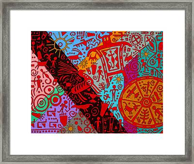 Petroglyphs Framed Print by Molly Williams