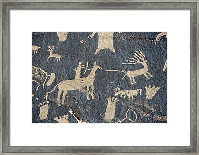 Petroglyphs, Utah Framed Print by Granger