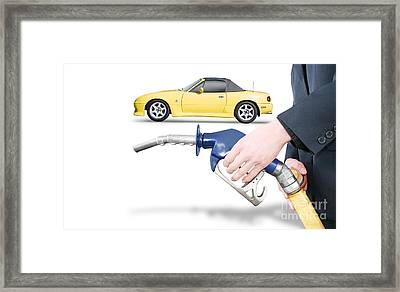 Petrol Bowser Pump Framed Print