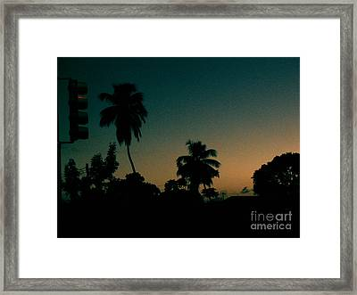 Petrol Night Framed Print by Barbara Marcus
