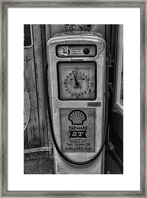 Petrol Pump Framed Print