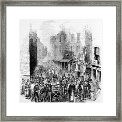 Petticoat Lane, London, On A Sunday Framed Print