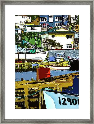 Petty Harbor Framed Print