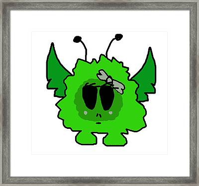 Petunia As Alien Framed Print
