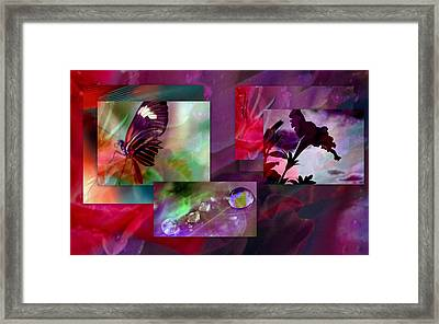 Petunia Collage Framed Print by Irma BACKELANT GALLERIES