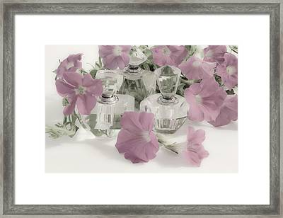 Petunias And Perfume - Soft Framed Print by Sandra Foster