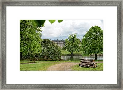 Petworth House On Lake Framed Print by Michael Hope