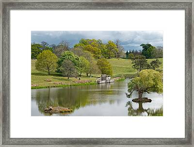 Petworth Lake In April Framed Print by Michael Hope