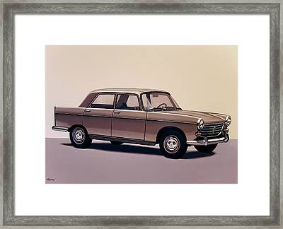 Peugeot 404 1960 Painting Framed Print by Paul Meijering