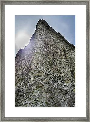 Framed Print featuring the photograph Peveril Castle Looking Up by Scott Lyons
