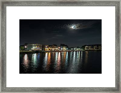 Pewaukee At Night Framed Print