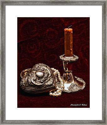 Pewter And Pearls Framed Print by Christopher Holmes