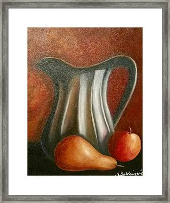 Pewter Reflections  Framed Print