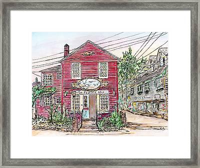 Pewter Shop, Rockport Massachusetts Framed Print