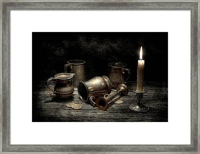 Pewter Still Life I Framed Print by Tom Mc Nemar