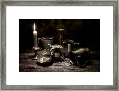 Pewter Still Life II Framed Print by Tom Mc Nemar